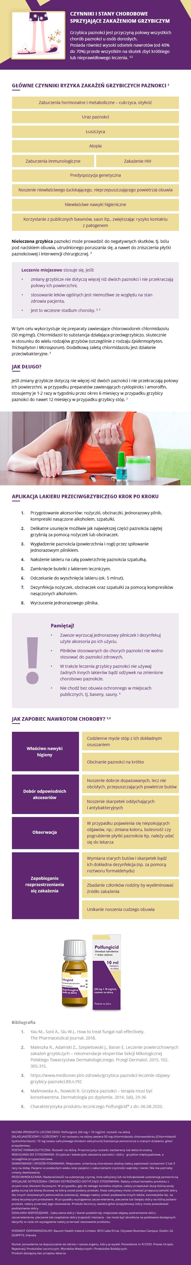 Jak zwalczyć grzybicę paznokci? Sprawdź infografikę (fot. aptekarz.pl).